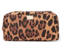 Kosmetiketui Aus Shell Mit Leopardenprint -