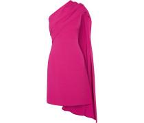 Drapiertes Kleid Aus Crêpe Aus Stretch-seide Mit Asymmetrischer Schulterpartie -