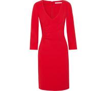 Eliana Gerafftes Kleid Aus Stretch-crêpe - Rot