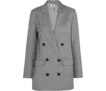 Wycliffe Doppelreihiger Blazer Aus Woll-twill - Grau