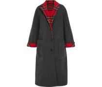 Mantel Aus Einer Woll-kaschmirmischung Mit Tartan-muster -