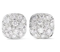 Nudo Solitaire Ohrringe Aus 18 Karat  Und Weißgold Mit Diamanten