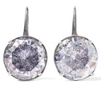 Ohrringe Aus Oxidiertem Silber Mit Cubic Zirkonia-steinen