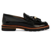 Manila Loafers Aus Glanzleder - Schwarz