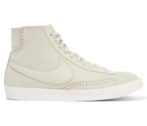 Blazer Mid High-top-sneakers Aus Veloursleder Und Shearling -