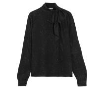 Cosmic bedruckte Bluse aus Seiden-Georgette mit Metallic-Effekt