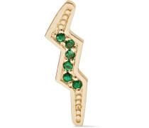 Mini Bolt Ohrring Aus 14 Karat  Mit Smaragden