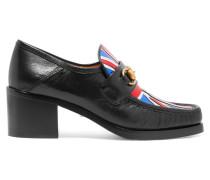 Loafers Aus Metallic-leder Mit Horsebit-detail -