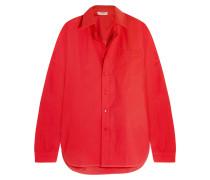 Oversized-hemd Aus Baumwollpopeline - Rot