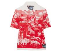 Bedrucktes Hemd Aus Baumwollpopeline - Rot