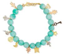 Recharmed Lucky Armband Aus 18 Karat Gelb-, Rosé- Und Weiß Mit Amazoniten