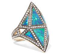Nellum Ring Aus 18 Karat  Mit Mehreren Steinen