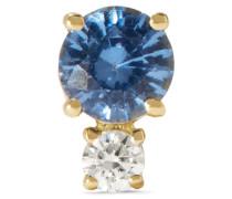 Ohrring Aus 18 Karat  Mit Saphir Und Einem Diamanten