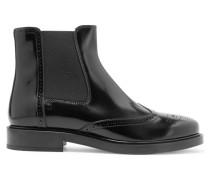 Chelsea Boots Aus Lackleder - Schwarz