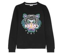Besticktes Sweatshirt Aus Baumwoll-jersey -