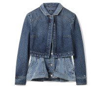 Mehrlagige Jeansjacke mit Schößchen -