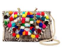 Udipi Verzierte Schultertasche Aus Gewebter Baumwolle -