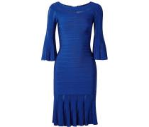 Margo Schulterfreies Kleid aus Bandage mit Pointelle-streifen -