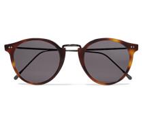Portofino Sonnenbrille Mit Rundem Rahmen Aus Azetat Und Metall -