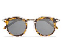 Bounty Sonnenbrille Mit Rundem Rahmen Aus Azetat In optik Mit Goldfarbenen Details