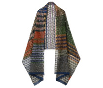 Schal Aus Metallic-strick In Häkeloptik -