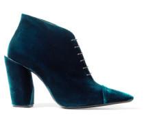 Ankle Boots Aus Samt -