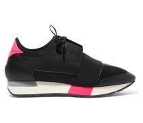 Race Runner Sneakers aus Leder, Mesh und Neopren