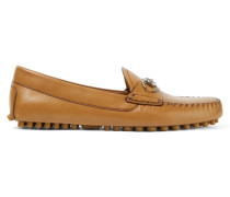 Leder-loafers Mit Horsebit-detail - Braun