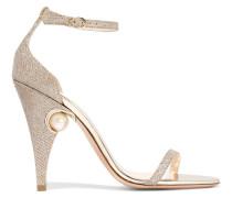 Penelope Verzierte Sandalen Aus Metallic-mesh -