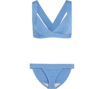 Bikini Aus Stretch-bandage - Azurblau