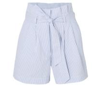 Gestreifte Shorts aus Baumwoll-seersucker