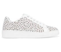 Sneakers Aus Lasergeschnittenem Leder -