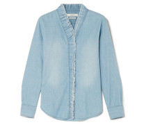 Lawendy Gerüschte Bluse aus Chambray -