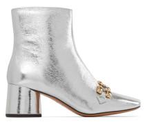 Remi Ankle Boots aus Metallic-leder