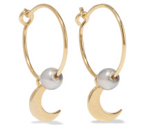 Satelite Moon Vergoldete Ohrringe Mit Perlen