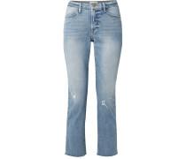 Le High Verkürzte Jeans mit Geradem Bein in Distressed-optik -