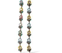 Ohrclips mit Rutheniumauflage mit Swarovski-Kristallen und Kunstperlen