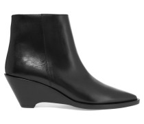 Cony Ankle Boots Aus Leder - Schwarz