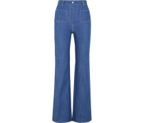 Erania Hoch Sitzende Jeans Mit Geradem Bein - Mittelblauer Denim
