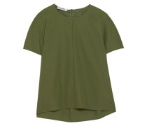 T-shirt Aus Baumwollpopeline -
