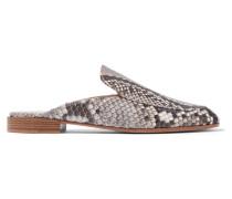 Slippers Aus Pythonleder -