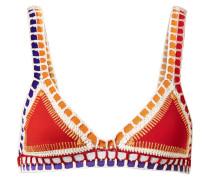 Kaia Triangel-bikini-oberteil mit Häkelbesatz -