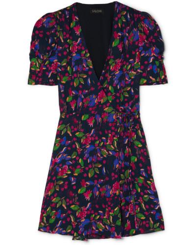 Lea Mini-wickelkleid aus Chiffon