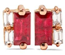 Ohrringe aus 18 Karat  mit Rubinen und Diamanten