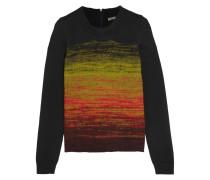 Pullover Aus Wolle Mit Farbverlauf - Limette
