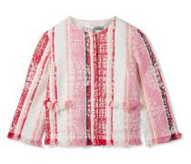 Verkürzte Jacke Aus Tweed Mit Fransen -