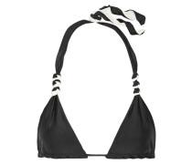 Solid Wendbares Triangel-bikini-oberteil -