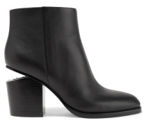 Gabi Ankle Boots Aus Leder Mit Cut-outs - Schwarz