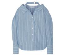 Rosa Hemd Aus Einer Baumwoll-leinenmischung Mit Nadelstreifen -
