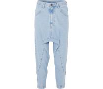 Super Lo Slung Verkürzte Jeans -